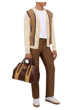Мужская кожаная дорожная сумка gg marmont GUCCI коричневого цвета, арт. 655615/UB5FT   Фото 2