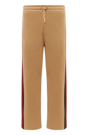 Мужские хлопковые брюки GUCCI бежевого цвета, арт. 655477/XJDKL | Фото 1