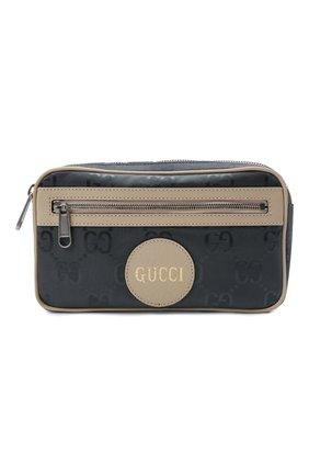 Мужская поясная сумка off the grid GUCCI серого цвета, арт. 631341/H9HBN | Фото 1 (Материал: Текстиль; Ремень/цепочка: На ремешке)