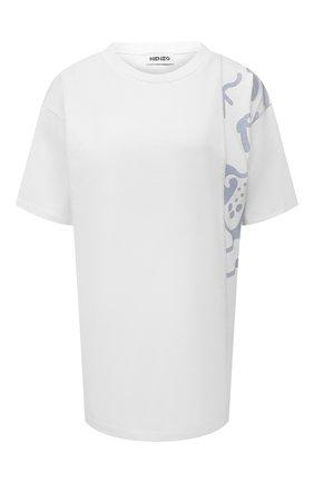 Женская хлопковая футболка KENZO серого цвета, арт. FB62TS9754SB | Фото 1