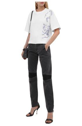 Женская хлопковая футболка KENZO серого цвета, арт. FB62TS9754SB | Фото 2