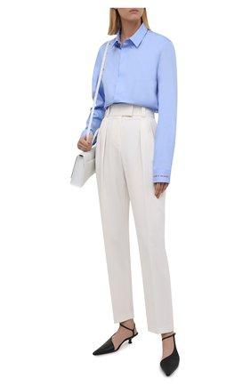 Женская хлопковая рубашка ZADIG&VOLTAIRE голубого цвета, арт. WKCC0508F | Фото 2