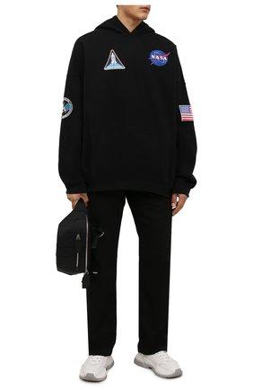 Мужской хлопковое худи BALENCIAGA черного цвета, арт. 651799/TKVD8   Фото 2 (Рукава: Длинные; Материал внешний: Хлопок; Женское Кросс-КТ: Худи-одежда; Стили: Спорт-шик; Длина (для топов): Стандартные; Мужское Кросс-КТ: Худи-одежда; Принт: С принтом)