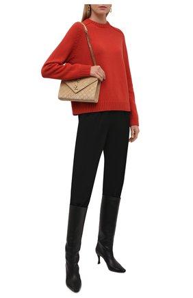 Женский кашемировый свитер LORO PIANA кораллового цвета, арт. FAL8594   Фото 2