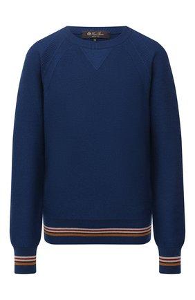 Женский кашемировый пуловер LORO PIANA синего цвета, арт. FAI6760   Фото 1