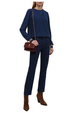 Женский кашемировый пуловер LORO PIANA синего цвета, арт. FAI6760   Фото 2