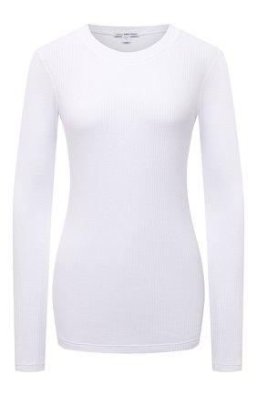 Женская хлопковый лонгслив JAMES PERSE белого цвета, арт. WRTJ3662 | Фото 1
