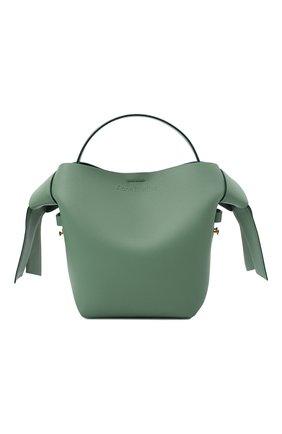 Женская сумка musubi mini ACNE STUDIOS зеленого цвета, арт. A10093 | Фото 1 (Материал: Натуральная кожа; Сумки-технические: Сумки top-handle, Сумки через плечо; Ремень/цепочка: На ремешке; Размер: mini)