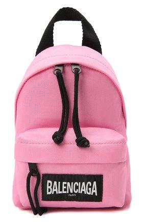 Женский рюкзак explorer BALENCIAGA розового цвета, арт. 656060/2JMRX | Фото 1 (Материал: Текстиль; Стили: Спорт; Ремень/цепочка: На ремешке; Размер: mini)