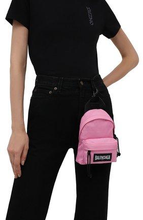 Женский рюкзак explorer BALENCIAGA розового цвета, арт. 656060/2JMRX | Фото 2 (Материал: Текстиль; Стили: Спорт; Ремень/цепочка: На ремешке; Размер: mini)