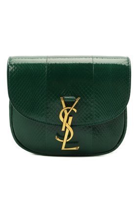 Женская сумка kaia small SAINT LAURENT зеленого цвета, арт. 619740/L3R0W | Фото 1 (Материал: Натуральная кожа; Сумки-технические: Сумки через плечо; Ремень/цепочка: На ремешке; Размер: small)