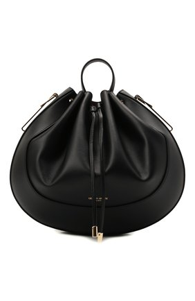 Женская сумка GIORGIO ARMANI черного цвета, арт. Y1E185/YQQ4A   Фото 1 (Размер: medium; Материал: Натуральная кожа; Сумки-технические: Сумки top-handle, Сумки через плечо)