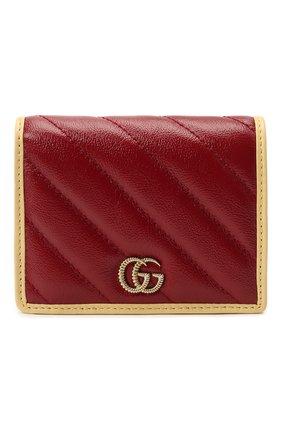 Женские портмоне gg marmont GUCCI бордового цвета, арт. 573811/1X5DG | Фото 1 (Кросс-КТ: другое)
