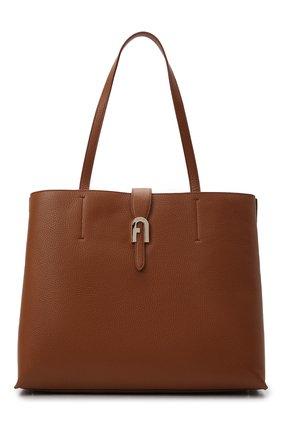 Женская сумка-тоут sofia large FURLA коричневого цвета, арт. BATUPRS/HSF000   Фото 1