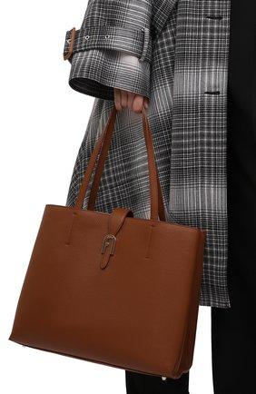 Женская сумка-тоут sofia large FURLA коричневого цвета, арт. BATUPRS/HSF000   Фото 2