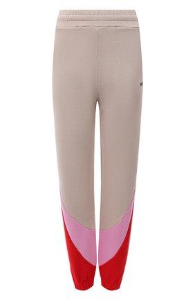 Женские хлопковые джоггеры MSGM бежевого цвета, арт. 3141MDP64 217799   Фото 1 (Материал внешний: Хлопок; Длина (брюки, джинсы): Стандартные; Женское Кросс-КТ: Джоггеры - брюки, Брюки-спорт; Силуэт Ж (брюки и джинсы): Джоггеры; Стили: Спорт-шик)