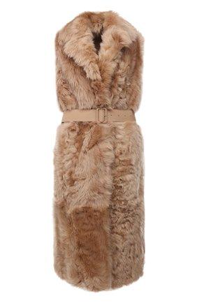 Женский жилет из овчины LORO PIANA розового цвета, арт. FAL7262 | Фото 1 (Материал внешний: Натуральный мех; Длина (верхняя одежда): Длинные; Женское Кросс-КТ: Мех; Стили: Кэжуэл)