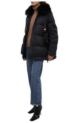 Женский пуховая куртка YS ARMY PARIS темно-синего цвета, арт. 22WFM04276M07W   Фото 2