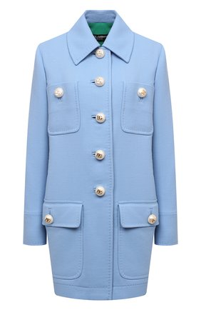 Женское шерстяное пальто DOLCE & GABBANA голубого цвета, арт. F0AQ4T/FU22W | Фото 1