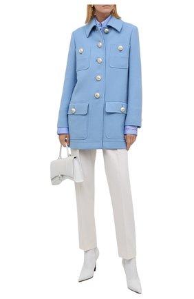 Женское шерстяное пальто DOLCE & GABBANA голубого цвета, арт. F0AQ4T/FU22W | Фото 2