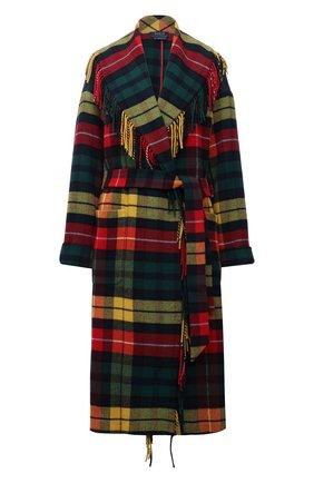 Женское пальто POLO RALPH LAUREN разноцветного цвета, арт. 211844811 | Фото 1 (Рукава: Длинные; Длина (верхняя одежда): Длинные; Материал внешний: Синтетический материал, Шерсть, Вискоза; 1-2-бортные: Однобортные; Стили: Гранж)