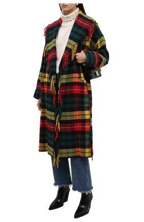 Женское пальто POLO RALPH LAUREN разноцветного цвета, арт. 211844811 | Фото 2 (Рукава: Длинные; Длина (верхняя одежда): Длинные; Материал внешний: Синтетический материал, Шерсть, Вискоза; 1-2-бортные: Однобортные; Стили: Гранж)