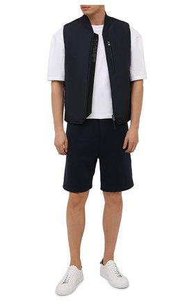 Мужской утепленный жилет BOGNER темно-синего цвета, арт. 38542487 | Фото 2 (Материал внешний: Синтетический материал; Кросс-КТ: Куртка; Стили: Спорт-шик; Длина (верхняя одежда): Короткие)