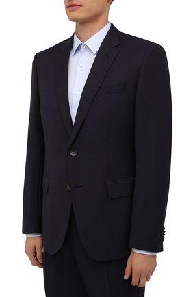 Мужской шерстяной костюм BOSS темно-фиолетового цвета, арт. 50458874 | Фото 2 (Рукава: Длинные; Материал внешний: Шерсть; Костюмы М: Однобортный; Стили: Классический)