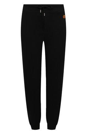 Женские хлопковые джоггеры KENZO черного цвета, арт. FB52PA7224ML | Фото 1 (Материал внешний: Хлопок; Женское Кросс-КТ: Джоггеры - брюки, Брюки-спорт; Силуэт Ж (брюки и джинсы): Джоггеры; Стили: Спорт-шик; Длина (брюки, джинсы): Стандартные)