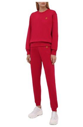 Женские хлопковые джоггеры KENZO розового цвета, арт. FB52PA7224ML   Фото 2 (Материал внешний: Хлопок; Женское Кросс-КТ: Джоггеры - брюки, Брюки-спорт; Силуэт Ж (брюки и джинсы): Джоггеры; Стили: Спорт-шик; Длина (брюки, джинсы): Стандартные)