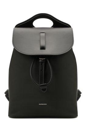 Мужской комбинированный рюкзак pocket BURBERRY хаки цвета, арт. 8042019   Фото 1