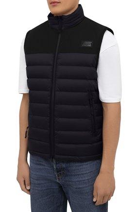 Мужской утепленный жилет BURBERRY черного цвета, арт. 8034317 | Фото 3 (Кросс-КТ: Куртка; Материал внешний: Синтетический материал; Стили: Спорт-шик; Материал подклада: Синтетический материал; Длина (верхняя одежда): Короткие)