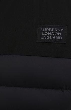 Мужской утепленный жилет BURBERRY черного цвета, арт. 8034317 | Фото 5 (Кросс-КТ: Куртка; Материал внешний: Синтетический материал; Стили: Спорт-шик; Материал подклада: Синтетический материал; Длина (верхняя одежда): Короткие)
