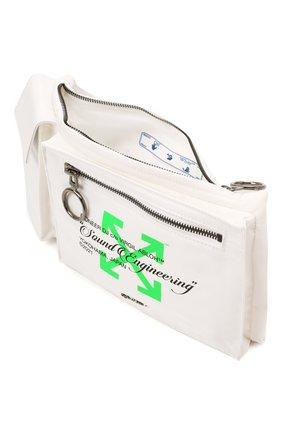 Мужская текстильная поясная сумка OFF-WHITE белого цвета, арт. 0MN0004G21FAB001   Фото 4 (Ремень/цепочка: На ремешке; Материал: Текстиль)