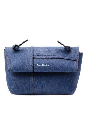 Женская сумка musubi small ACNE STUDIOS синего цвета, арт. CG0162/W   Фото 1