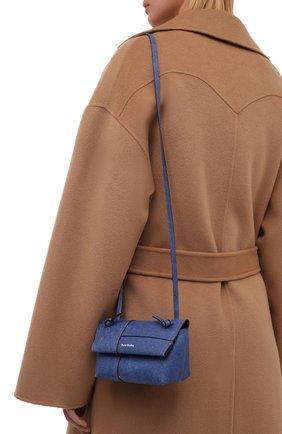 Женская сумка musubi small ACNE STUDIOS синего цвета, арт. CG0162/W   Фото 2