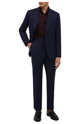 Мужская хлопковая рубашка VAN LAACK бордового цвета, арт. M-PER-L/187048 | Фото 2 (Материал внешний: Хлопок; Случай: Повседневный; Рубашки М: Classic Fit; Принт: Однотонные; Воротник: Акула; Рукава: Длинные; Манжеты: На пуговицах; Стили: Классический; Длина (для топов): Стандартные)