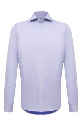 Мужская хлопковая сорочка VAN LAACK голубого цвета, арт. RIVARA-LSF/162583 | Фото 1 (Материал внешний: Хлопок; Рукава: Длинные; Длина (для топов): Стандартные; Случай: Формальный; Рубашки М: Regular Fit; Принт: Однотонные; Воротник: Акула; Манжеты: На пуговицах; Стили: Классический)