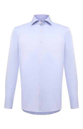 Мужская хлопковая сорочка VAN LAACK голубого цвета, арт. RIVARA-PTFC6N/132241 | Фото 1 (Материал внешний: Хлопок; Рукава: Длинные; Длина (для топов): Стандартные; Случай: Формальный; Рубашки М: Regular Fit; Принт: Однотонные; Воротник: Акула; Манжеты: На пуговицах; Стили: Классический)