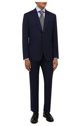 Мужская хлопковая сорочка VAN LAACK голубого цвета, арт. RIVARA-PTFC6N/132241 | Фото 2 (Материал внешний: Хлопок; Рукава: Длинные; Длина (для топов): Стандартные; Случай: Формальный; Рубашки М: Regular Fit; Принт: Однотонные; Воротник: Акула; Манжеты: На пуговицах; Стили: Классический)