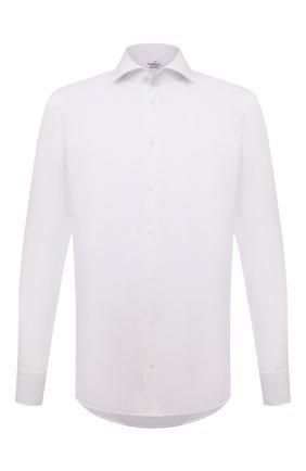 Мужская хлопковая сорочка VAN LAACK белого цвета, арт. RIVARA-SF/160199 | Фото 1 (Длина (для топов): Стандартные; Рукава: Длинные; Материал внешний: Хлопок; Случай: Формальный; Рубашки М: Regular Fit; Принт: Однотонные; Воротник: Акула; Манжеты: На пуговицах; Стили: Классический)