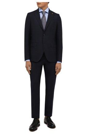 Мужская хлопковая сорочка VAN LAACK голубого цвета, арт. RIVARA-SF/160199 | Фото 2 (Материал внешний: Хлопок; Случай: Формальный; Рубашки М: Regular Fit; Принт: Однотонные; Воротник: Акула; Рукава: Длинные; Манжеты: На пуговицах; Стили: Классический; Длина (для топов): Стандартные)