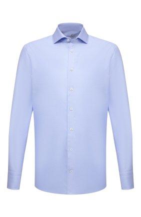Мужская хлопковая сорочка VAN LAACK голубого цвета, арт. RIVARA-TF/162585 | Фото 1 (Материал внешний: Хлопок; Случай: Формальный; Рубашки М: Regular Fit; Принт: Однотонные; Воротник: Акула; Рукава: Длинные; Манжеты: На пуговицах; Стили: Классический; Длина (для топов): Стандартные)