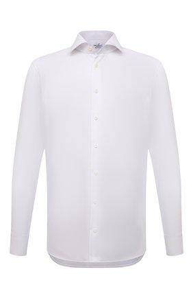 Мужская хлопковая сорочка VAN LAACK белого цвета, арт. RIVARA-TFN/160012 | Фото 1 (Материал внешний: Хлопок; Случай: Формальный; Рубашки М: Regular Fit; Принт: Однотонные; Воротник: Акула; Рукава: Длинные; Манжеты: На пуговицах; Стили: Классический; Длина (для топов): Стандартные)