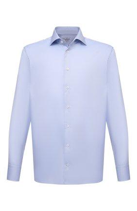 Мужская хлопковая сорочка VAN LAACK голубого цвета, арт. RIVARA-TFN/160012 | Фото 1 (Материал внешний: Хлопок; Случай: Формальный; Рубашки М: Regular Fit; Принт: Однотонные; Воротник: Акула; Рукава: Длинные; Манжеты: На пуговицах; Стили: Классический; Длина (для топов): Стандартные)