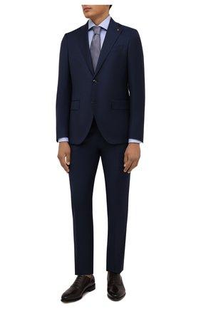 Мужская хлопковая сорочка VAN LAACK голубого цвета, арт. RIVARA-TFN/160012 | Фото 2 (Материал внешний: Хлопок; Случай: Формальный; Рубашки М: Regular Fit; Принт: Однотонные; Воротник: Акула; Рукава: Длинные; Манжеты: На пуговицах; Стили: Классический; Длина (для топов): Стандартные)