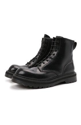 Мужские кожаные ботинки PREMIATA черного цвета, арт. 31543/M0NELLA | Фото 1 (Материал внутренний: Натуральная кожа; Мужское Кросс-КТ: Ботинки-обувь; Подошва: Массивная)