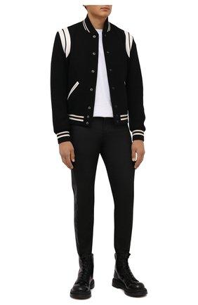 Мужские кожаные ботинки PREMIATA черного цвета, арт. 31543/M0NELLA | Фото 2 (Материал внутренний: Натуральная кожа; Мужское Кросс-КТ: Ботинки-обувь; Подошва: Массивная)