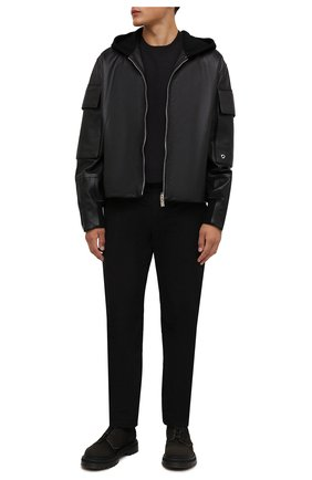 Мужские замшевые ботинки PREMIATA темно-коричневого цвета, арт. 31543/N0NE BRASS | Фото 2 (Материал внутренний: Натуральная кожа; Подошва: Массивная; Мужское Кросс-КТ: Ботинки-обувь; Материал внешний: Замша)