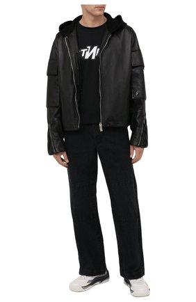 Мужская хлопковая футболка HERON PRESTON черного цвета, арт. HMAA025F21JER0061001 | Фото 2 (Материал внешний: Хлопок; Длина (для топов): Стандартные; Рукава: Короткие; Принт: С принтом; Стили: Гранж)